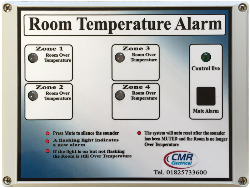 Room Over Temperature Alarms Systems Category | CMR Electrical
