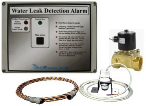 One and Two Zone Water Leak Detection Alarm with Water Shut off Valve Type LD2V