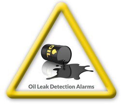 Oil leak detection alarms