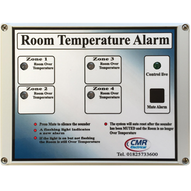 Room Temperature Alarms from 1 to 4 zone