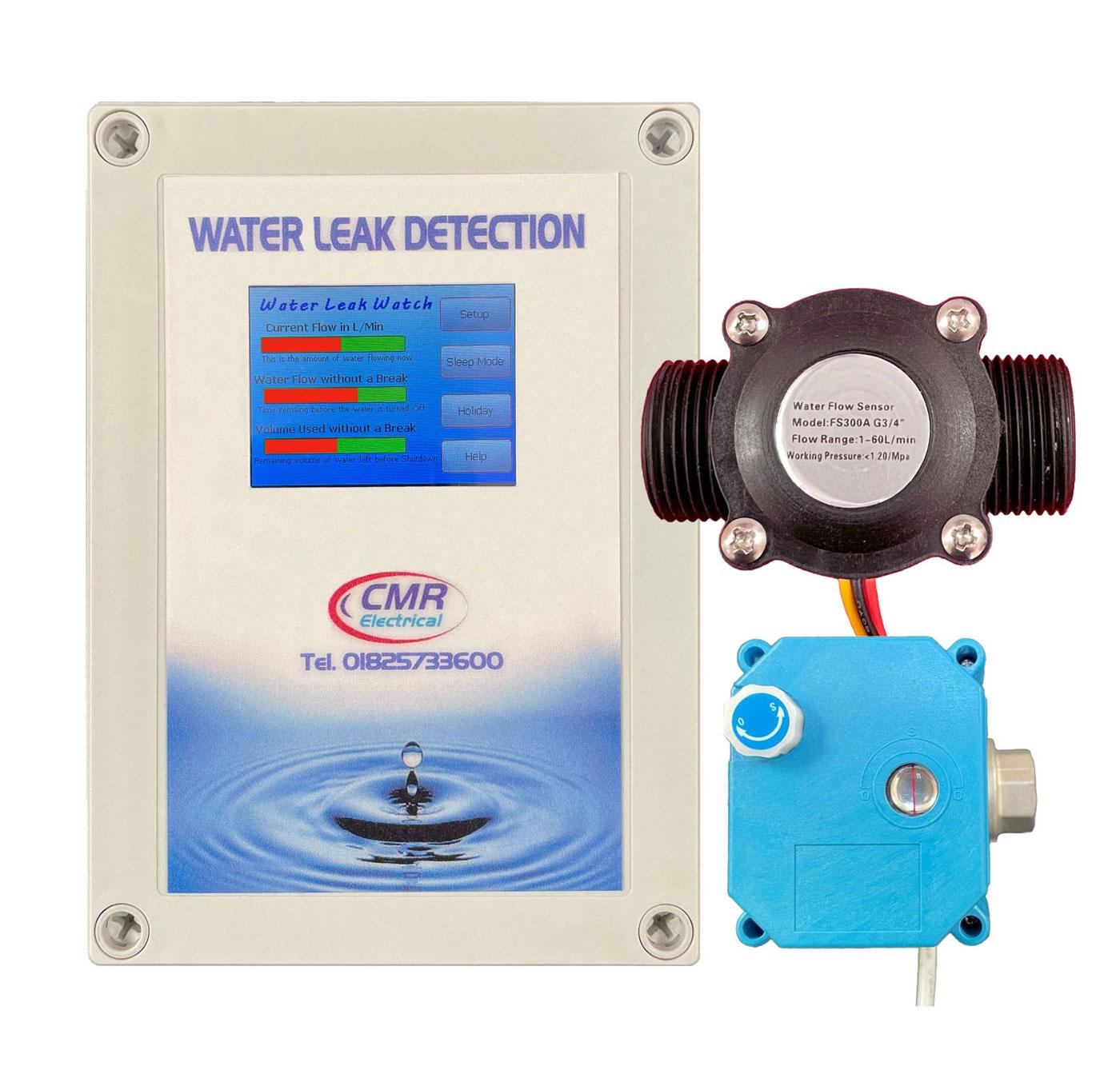 WLW alarm unit, sensor and shut off valve
